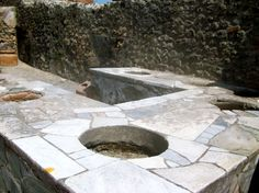 Pompeii, perfectly preserved food service station!