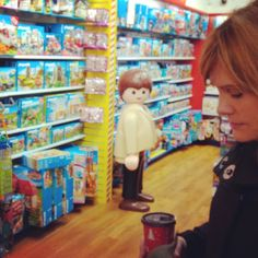 I could feel his eyes on me but I couldn't bring myself to look. #playmobil #handsomestranger
