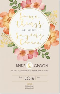 "Why You'll Love Tan Vow Renewal Vertical Flat Invitations - 5""x7"""