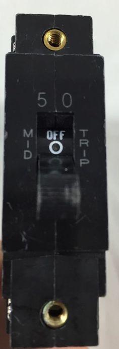 Heinemann 50 Amp Circuit Breaker AM1S-B98AAA02ALDDU-W Untested #Heinemann