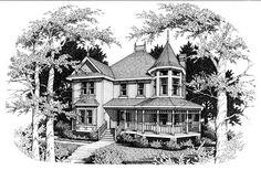 Victorian House Plan chp-50899 at COOLhouseplans.com  Hi ya'll those others ar for ya'll I want this one  I found an old house that looks like it Love ya Marya Dracula