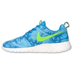 best authentic eacff 60fb2 Nike Roshe Run Print Casual Schoenen HerenDames Foto Blauw Electric Groen  Mystic Groen Summit Wit 655206 430 kopen.