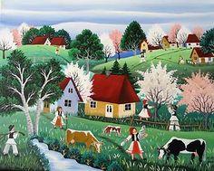 Mariana Mihut Naive Art, Folk Art, Artist, Cute, November, Tropical, Painting, Funny, Mariana
