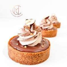Tartelettes choco noisette - Mes Délicieuses Créations Kinds Of Desserts, French Desserts, Sweet Desserts, Dessert Recipes, Cake & Co, Cake Shop, Dessert Restaurants, French Cake, Book Cakes