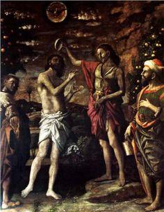 The Baptism of Christ - Andrea Mantegna