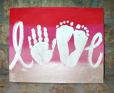 LOVE canvas with hand and feet!