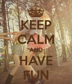 love having fun.