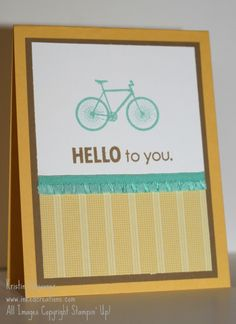 Hello to you!  Card using two stamps from different My Paper Pumpkin kits from inkedcreations.com.