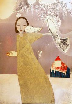"""EVELINA OLIVEIRA trips to imagination: """"Palavras que voam sobre as nuvens dos sentidos """"- próxima exposição - Galeria São Mamede - dia 27 de Janeiro .19h"""