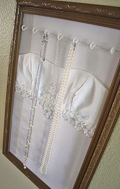 "Beautiful way to put your wedding dress to further use--wish I had done this, however it would  be great for Christening gowns, and personally, I think I'll do somethign withmy daughter's ""adoption day"" dress"
