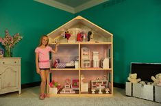 Want to make this! American Girl playhouse