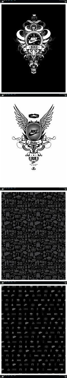 Nike Print Range by Peter Steffen, via Behance