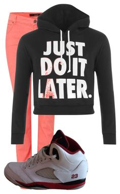 """""""Untitled #53"""" by jorge21 on Polyvore featuring Oui, WearAll, NIKE, women's clothing, women, female, woman, misses and juniors"""