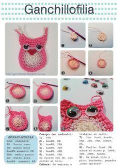 Porque tejer no es cosa de abuelas.: De búhos e ilusiones....cute owl..would make a nice appliqué !