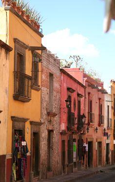 i want to live in a place this colorful. san miguel de allende, mexico