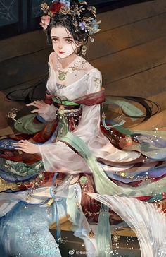 my hanfu favorites Anime Art Girl, Manga Girl, Chinese Drawings, Ancient Beauty, China Art, Beautiful Anime Girl, Mermaid Art, Hanfu, Pretty Art