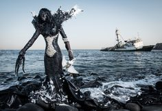 Enter Belgian-Beninese photographer Fabrice Monteiro, whose new series The Prophecy uses elaborate costumes and sets to put faces and human bodies on the problems facing the world.