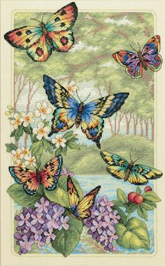 Amazon.com: Dimensions Needlecrafts Counted Cross Stitch, Butterfly Forest: Arts, Crafts Sewing