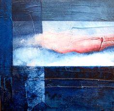#blau klein1, #Aquarell auf Holz, 20 x 20 cm