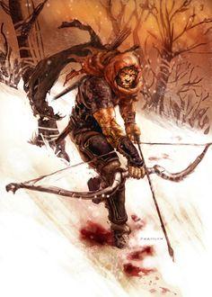 Ranger in Snow. This dude has the Carmine Avenger!