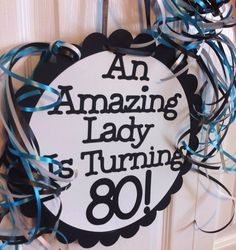 80th Birthday Decorations Giant Personalized Party Signs by FromBeths on Etsy https://www.etsy.com/listing/156374447/80th-birthday-decorations-giant