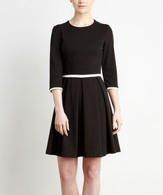 Loving this Black Box Pleat A-Line Dress on #zulily! #zulilyfinds
