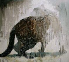 """Käännös"" Painting by Samuli Heimonen Viviane Sassen, Sculptures, Lion Sculpture, Creative Artwork, Art Studies, Animal Paintings, Beautiful Artwork, Animal Pictures, Comic Art"