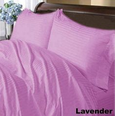 300 TC Deluxe Ultra 100% Egyptian cotton Luxurious Duvet Cover 300 THREADS Short Queen Lavender Stripe by pearlbedding. $93.99. Experience true luxury when you sleep on these Eqyptian cotton sheets.. Brand New and Factory Sealed. No Ironing Necessary. THREAD COUNT/MATERIAL: 300TC , 100% Egyptian Cotton. This is one Duvet Cover only. Extra Comfortable and most Contemporary Duvet set.. Super Soft sheets with super soft comfort, luxury and style a cut above the rest. Bea...