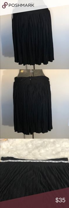 Calvin Klein Pleated Skirt Black Pleated Skirt I would say these run a little large, 1x fits a size 18 comfortably Calvin Klein Skirts