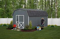 Dark Gray Garden Shed