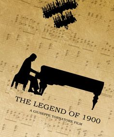 The Legend of 1900 Minimalist Movie Poster Print, La leggenda del pianista…                                                                                                                                                                                 Más