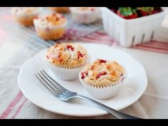 Strawberry Yogurt Oat Muffins - Laura Fuentes