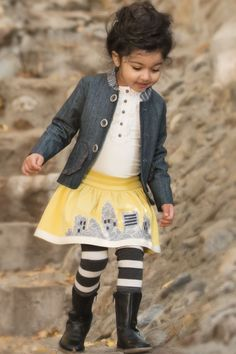 Persnickety October Sky Brooke Skirt – Posh Closet Children's Boutique