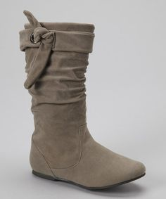Another great find on #zulily! Gray Sloutie Boot by Simply Petals #zulilyfinds