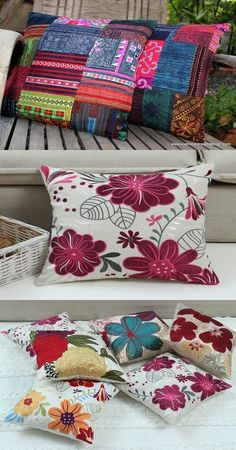 Embroidery and Embroidered Cushions In Modern Homes - http://interiordesign4.com/embroidery-embroidered-cushions-modern-homes/
