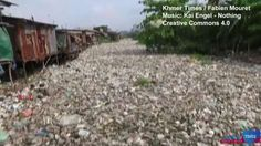 Video from the Khmer Times shows a tainted canal system choked by rubbish