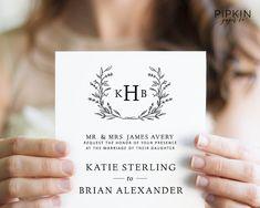 Wedding Invitation Template Digital Download for Word
