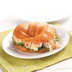 Crab Salad Croissants - These are delicious! I like a crispier lettuce on them. Red Leaf lettuce was too bitter and soft.