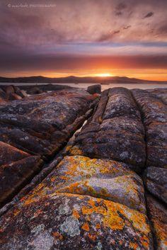 Sunset at Binalong Bay, Tasmania_ Australia