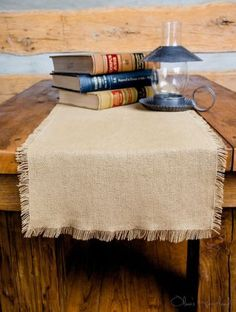 Linen Table Runner With Fringed Edges Kitchen Decor