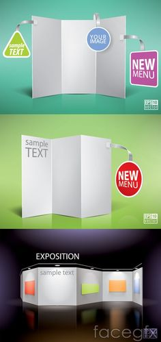 Blank panels hang tags stickers vector