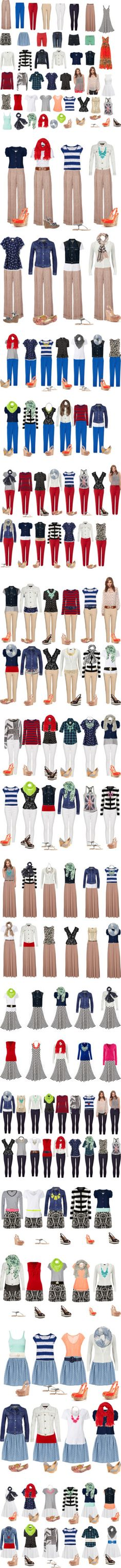 """Capsule Wardrobe -- Spring & Summer"" by cocogolightly on Polyvore"