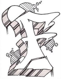Graffiti Alphabet Style F