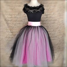 Black pink and fucshia tutu skirt for women. by TutusChicBoutique, $185.00