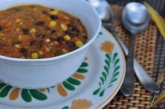 Black Bean Vegetable Soup - slow cooker, crock pot, whole foods, vegan