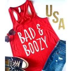 Bad and Boozy, XS-Xl, 4th of July Shirt, Fourth of July, Weekend Tank Top, Brunch Shirt, Gift for her, Day Drinking, Funny Shirt by ShopatBash on Etsy