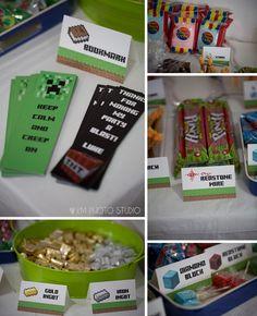 Minecraft Birthday Party, minecraft candy bar, minecraft endermen, minecraft goodie bag, KM Photo Studio Minecraft Birthday Party, Birthday Parties, Birthday Ideas, Candy Minecraft, Dallas Wedding, Shopkins, Krystal, Wedding Portraits, Photo Studio