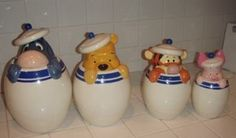 Winnie the Pooh & Friends Kitchen Canister/Cookie in Baytown. had had them for over 5 years