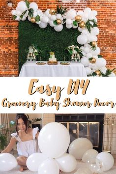 All-in-one Kit easy setup Baby shower Decorations Simple Baby Shower, Boho Baby Shower, Baby Boy Shower, Baby Shower Backdrop, Baby Shower Balloons, Kit, Greenery Decor, Baby Girl Shower Themes, Safari Theme Baby Shower