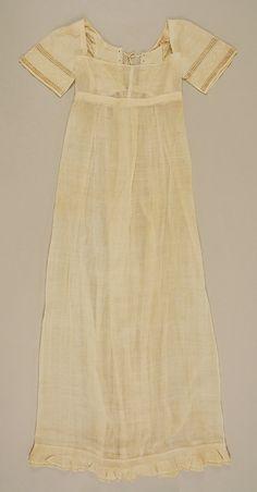 Dress - ca. 1810 - American - cotton - MET